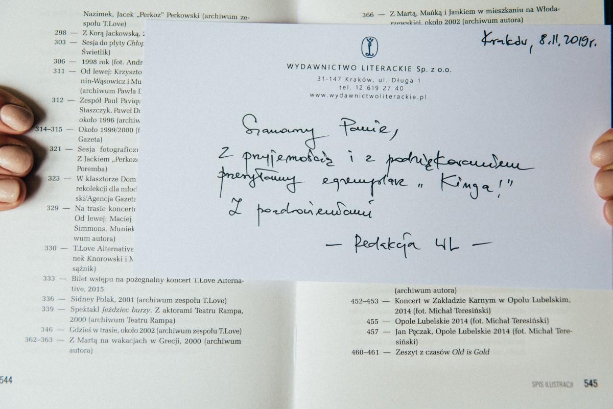 Zdjęcia w autobiografii Muńka Staszczyka King!
